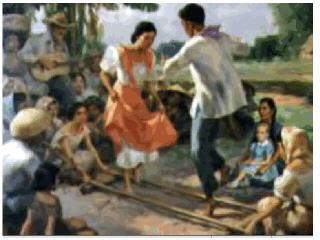 Baile de las cañas, Fernando Amorsolo