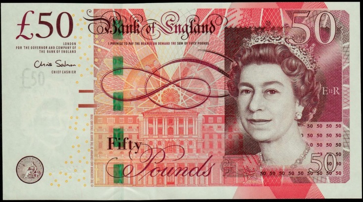 Image result for 100 british pounds note