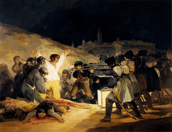 Image result for los fusilamientos del 3 de mayo de 1808