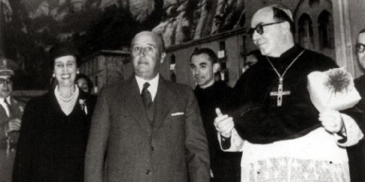 Resultado de imagen de abad de monerrat con franco