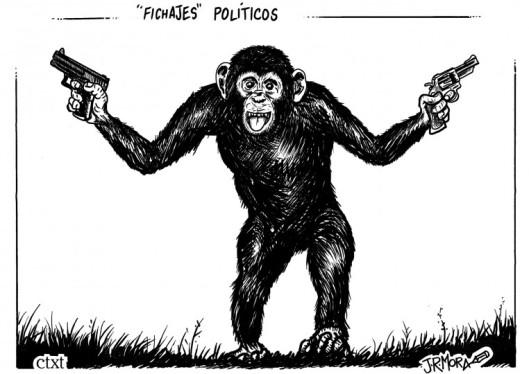 Resultado de imagen de mono con pistola